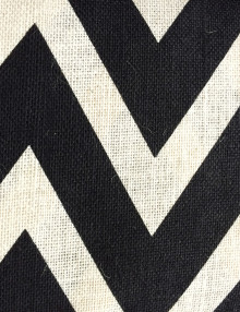 Printed Burlap Oyster Chevron